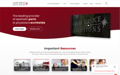 Homepage of the new Laser Service Solutions website.