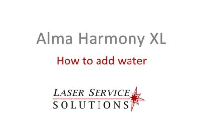 How to Add Water to an Alma Harmony XL laser