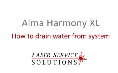 How to Drain Water from an Alma Harmony XL