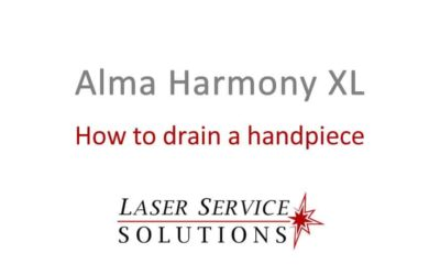 How to Drain an Alma Harmony XL Handpiece